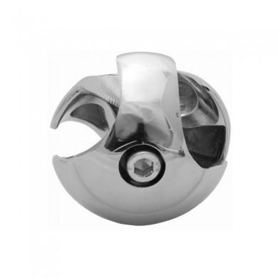 Złącze dwukierunkowe prawe do rury 25 mm aluminium chromowane TR501-P-CHR