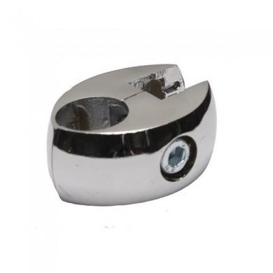 Złącze pojedyńcze do płyt i szkła rura 25 mm TR550-0-CHR