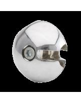 Złącze prostopadłe do rury 25 mm aluminium chromowane
