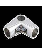 Złącze dwuramienne do rury 25 mm chromowane