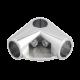 SHOP-LINE Złącze dwuramienne z półką do rury 25 mm chromowane TR580-0-CHR