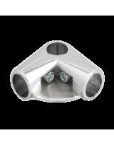 Złącze dwuramienne z półką do rury 25 mm chromowane