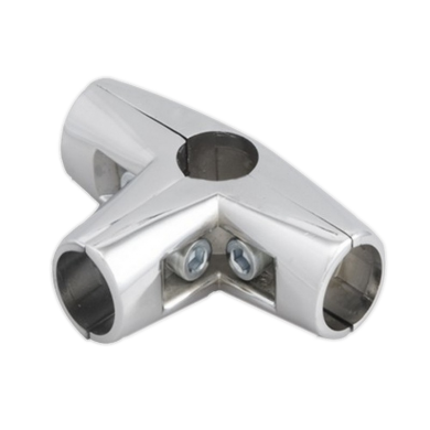 SHOP-LINE Złącze trzyramienne do rury 25 mm chromowane TR581-0-CHR