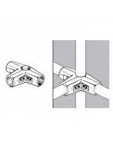 Złącze trzyramienne do rury 25 mm chromowane