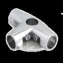 SHOP-LINE Złącze trzyramienne z półką do rury 25 mm chromowane TR582-0-CHR