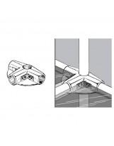 SHOP-LINE Złącze trzyramienne z dwoma półkami do rury 25 chromowane TR583-0-CHR
