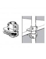 Wspornik półki do rury 25 mm aluminium chromowane