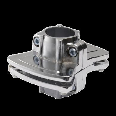 SHOP-LINE Podwójny wspornik półki do rury 25 mm aluminium chromowane TR596-0-CHR