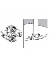 Podwójny wspornik półki do rury 25 mm aluminium chromowane