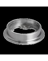 Końcówka mocująca rury 50 mm niska chromowana