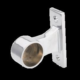 SHOP-LINE Uchwyt dystansowy rury 25 mm końcowy chromowany dystans 30 mm AC997-0-CHR