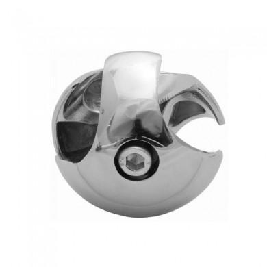 Złącze dwukierunkowe lewe do rury 25 mm aluminium chromowane TR501-L-CHR