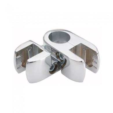 Złącze podwójne kątowe do płyt lub szkła rura 25 mm TR553-0-CHR