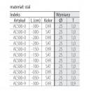 SHOP-LINE Rura chromowana system rurowo-kulowy TRIS 25 mm grubość 1 mm AC500