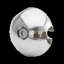 Złącze prostopadłe do rury 25 mm aluminium chromowane TR505-0-CHR