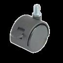 SHOP-LINE Kółko podwójne ze śrubą M-10 z hamulcem czarne AC512-D-CZA