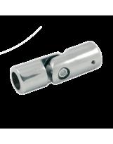 Złącze zawiasowe do rury 16 mm chromowane