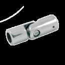 SHOP-LINE Złącze zawiasowe do rury 16 mm chromowane AC543-0-CHR