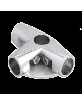 Złącze trzyramienne z półką do rury 25 mm chromowane