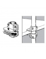 SHOP-LINE Wspornik półki do rury 25 mm aluminum chromowane TR595-0-CHR