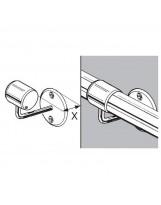 SHOP-LINE Uchwyt dystansowy do rury 50 mm gięty chromowany AC931-B-CHR