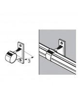 Uchwyt dystansowy rury 32 mm przelotowy chromowany dystans 30 mm