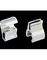 Uchwyt do szkła o grubości 4 mm do rury 25 mm metalizowany